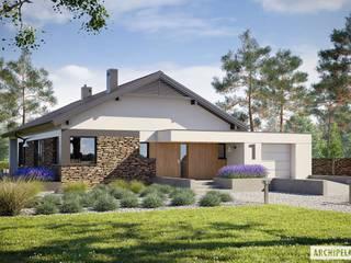 Projekt domu Daniel II G1 z wnętrzem pełnym słońca i ciepła Nowoczesne domy od Pracownia Projektowa ARCHIPELAG Nowoczesny