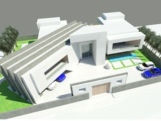 Aerial Perspective - Front: modern Houses by Koncept Architects & Interior Designers,