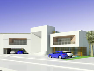 Road Side View: modern Houses by Koncept Architects & Interior Designers,