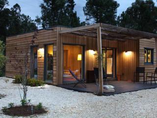 RUSTICASA Holzhaus Holz Holznachbildung