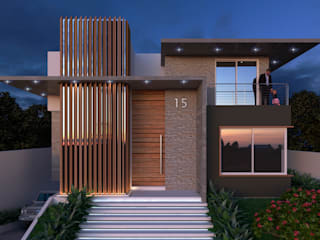 Casas de estilo  por Alexandrino Arquitetura Ltda., Moderno