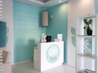 a3mais Modern offices & stores Turquoise