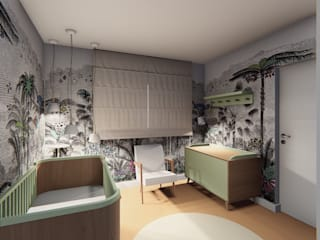 Nursery/kid's room by Lorenza Franceschi Arquitetura e Design de Interiores,