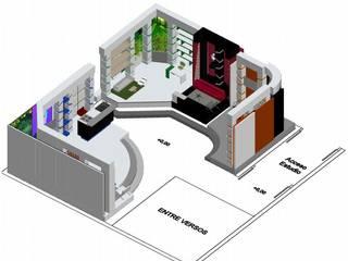 Estudio de grabación 270ª: Salas de entretenimiento de estilo  por ERGOARQUITECTURAS FL C.A.