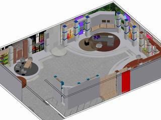 ESCENOGRAFIAS: Salas de entretenimiento de estilo  por ERGOARQUITECTURAS FL C.A.