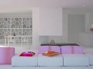Siesta White House: Salones de estilo  de Zucchero Architects
