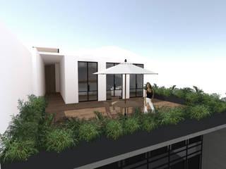 CASA MALDONADO - Terraza: Casas de estilo  por Taller de Arquitectura SD-MX