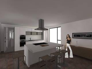 CASA MALDONADO - Cocina/Desayunador: Cocinas de estilo  por Taller de Arquitectura SD-MX
