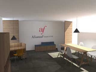 ALIANZA FRANCESA - Oficina Recepción:  de estilo  por Taller de Arquitectura SD-MX