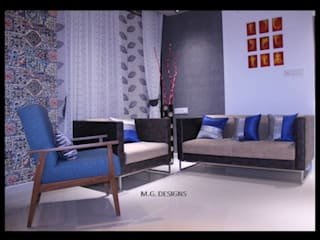 Sample House:  Living room by malvigajjar,Modern