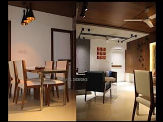 Sample House:  Dining room by malvigajjar,Modern