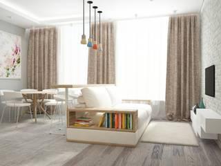 ЖК Весна Modern Living Room by Anastasia Yakovleva design studio Modern