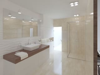 Дом Реутов Modern Bathroom by Anastasia Yakovleva design studio Modern