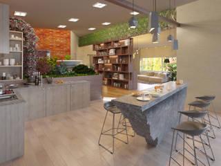 Дом Реутов Modern Kitchen by Anastasia Yakovleva design studio Modern