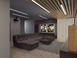 Дом Летчик Испытатель Modern Media Room by Anastasia Yakovleva design studio Modern