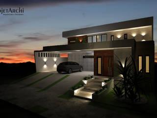 Residência 03 - noite: Casas  por ProjetArchi