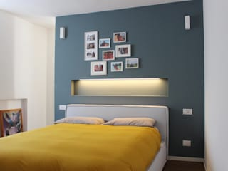 giorgio davide manzoni Modern style bedroom Blue