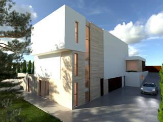 VILLA R&J: Casas de estilo  de L5F Arquitectura e Ingeniería | La Quinta Fachada