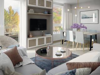 Gdynia | 90: styl , w kategorii Salon zaprojektowany przez Mohav Design