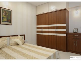 Parents Bed:   by Akruti Interiors Pune