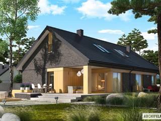 Daniel IV G2 – nowoczesny dom z atrakcyjną antresolą Nowoczesne domy od Pracownia Projektowa ARCHIPELAG Nowoczesny