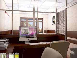 Minimalist office buildings by Мастерская интерьера Юлии Шевелевой Minimalist