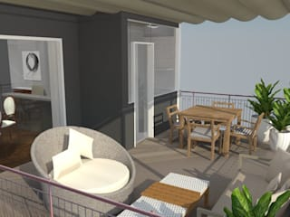 Classic style balcony, porch & terrace by Maria Eduarda Reis Interiores Classic