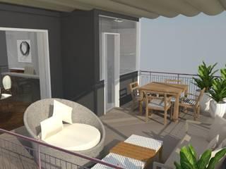 Home Staging: Terraços  por Maria Eduarda Reis Interiores,Clássico