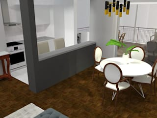 Home Staging: Salas de jantar  por Maria Eduarda Reis Interiores,Clássico