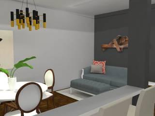 Home Staging: Salas de estar  por Maria Eduarda Reis Interiores,Clássico