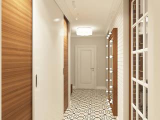 Corredores, halls e escadas escandinavos por Дизайн Студия 33 Escandinavo