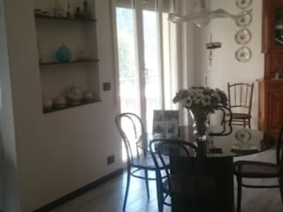 Ristrutturazione di interni: Soggiorno in stile in stile Rustico di Architetto Termografo Denise Vola