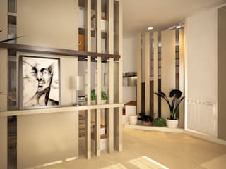 Vivienda DH - Barrio Los Tilos - Cipolletti, Río Negro - Argentina Pasillos, vestíbulos y escaleras modernos de ARKIZA Moderno