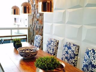 Cobertura Duplex Bacutia - Cliente  [ T.B .] : Salas de jantar  por IG Arquitetura e Interiores,Moderno