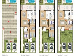 casa térrea com etapas para ampliação:   por Floorplans