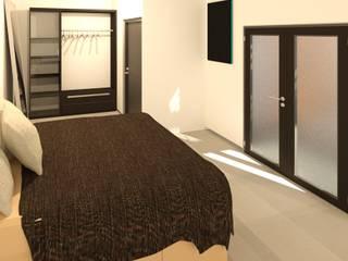 Minimalist bedroom by Perfil Arquitectónico Minimalist