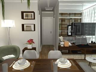 Painel Espelhado: Salas de estar  por Arquiteta Elaine Silva