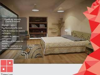 Arquitectura Interior Habitaciones de estilo rústico de Spachi Arquitectura Comercial Rústico