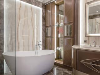 Дизайн интерьера высшего уровня на Лазурном берегу. Ванная комната в эклектичном стиле от NG-STUDIO Interior Design Эклектичный