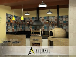 Modern kitchen by Arqhall Arquitetura e Gerenciamento Modern