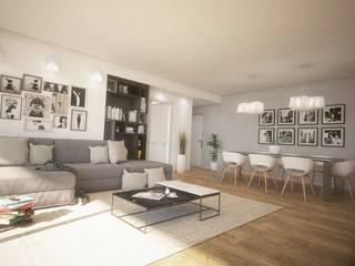 Interior design soggiorno: Soggiorno in stile in stile Moderno di Ivan Rivoltella