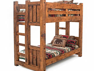 Timber Frame Wood Bunk Bed:   by Woodland Creek