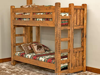 Timber Frame Bunk Bed:   by Woodland Creek