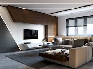 INTERIOR FLAT Modern living room by Archie-Core Modern