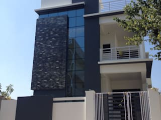 Prathima Residence at Auto Nagar:   by Walls Asia Architects and Engineers