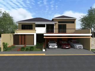 Fachada : Casas de estilo  por HC Arquitecto