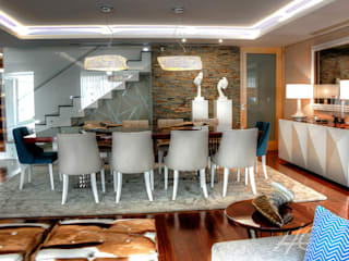 Modern dining room by Grupo HC Modern
