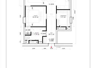 Квартира для пары и кота в ЖК SKY HOUSE I Эко-минимализм:  в . Автор – ЗАПРОСТО!