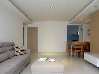 築一國際室內裝修有限公司 Moderne Wohnzimmer