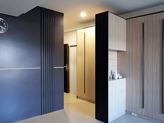 築一國際室內裝修有限公司 Moderner Flur, Diele & Treppenhaus